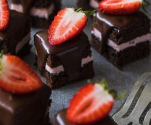 chocolate, strawberry, and dessert image
