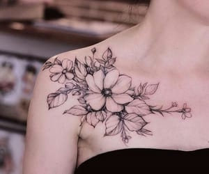 flowers, ink, and nature image