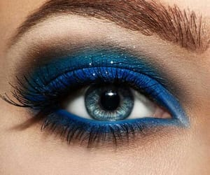 blue, beautiful, and make up image
