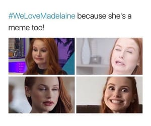 funny, riverdale, and madelaine petsch image