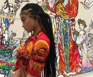 art, braids, and graffiti image