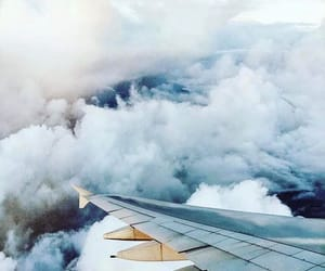 airplane, travel, and travel inspo image