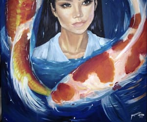 acrylic, fish, and painting image