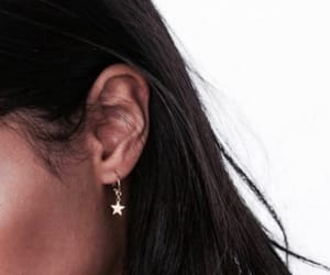 earrings, star, and hair image