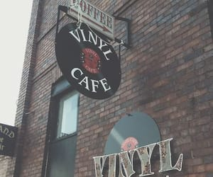 music, cafe, and vinyl image