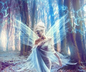 fairy, blue, and fantasy image