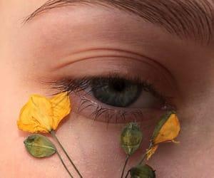 eye, aesthetic, and flowers image