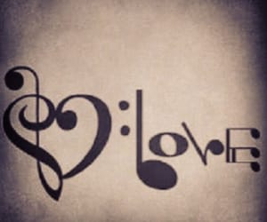 music, tattoo, and love image