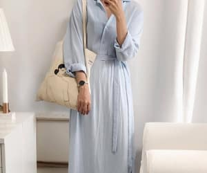 blue dress, casual, and clothes image