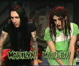 Marilyn Manson, grunge, and twiggy image
