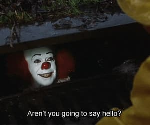 it, clown, and movie image