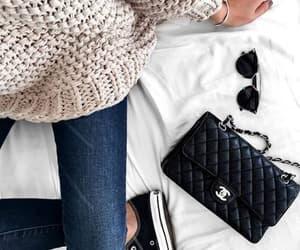 brand, chanel, and handbag image