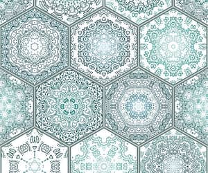 background, mandala, and pattern image