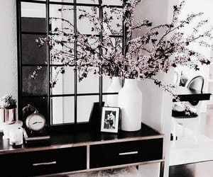 interior, home, and flowers image