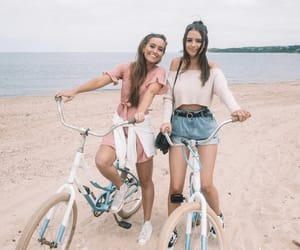 fashion, bike, and friendship image