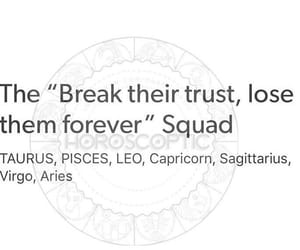 astrology, signs, and trust image