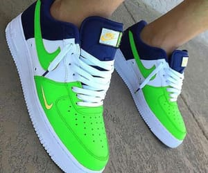 green, navy, and nike image