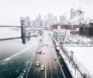 cars, city, and winter image