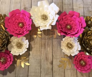motivation, paper flowers, and wedding image