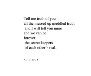 atticus, poetry, and secrets image