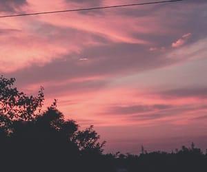 clouds, pink, and облака image