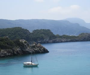adventure, boat, and corfu image