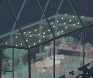 gif, art, and rain image