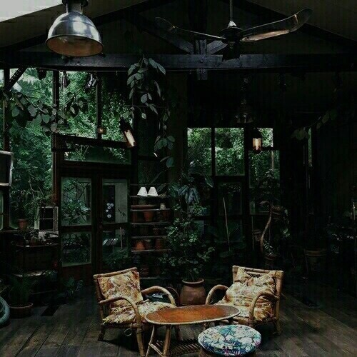 aesthetic, cabin, and walking image