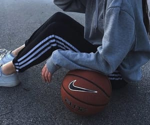 girl, nike, and adidas image