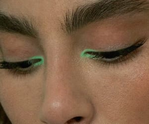 beauty, green, and makeup image
