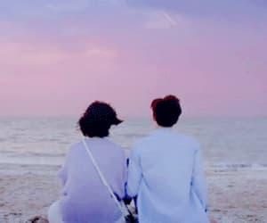 beach, couple, and drama image