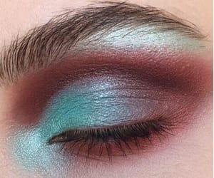 beauty, blue, and eye makeup image
