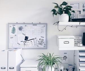 decor, desk, and minimal image