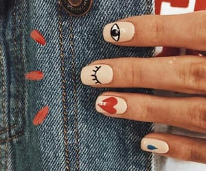 nails, manicure, and eye image