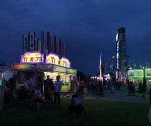 amusement, lights, and park image