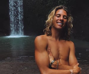 paradise, waterfall, and surf boy image
