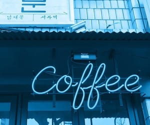 coffee, neon, and aesthetic image