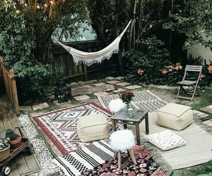 bohemian, green, and interior design image