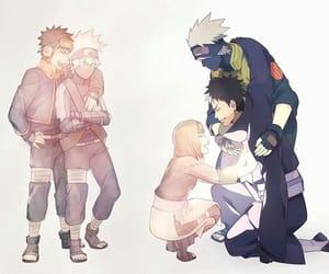 anime, kakashi, and obito image
