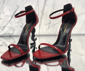 heels, red, and Yves Saint Laurent image