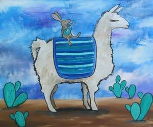art, llama, and nursery wall art image