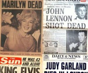 john lennon, judy garland, and dead image