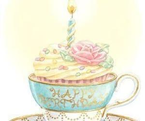 art, cupcake, and happy birthday image