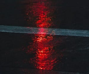 red, light, and road image