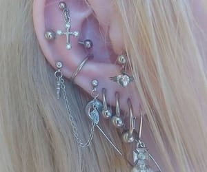 earrings, grunge, and jewelry image
