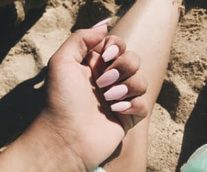 beach, nails, and cute image