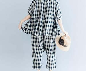 etsy, plaid pants, and linen pants image