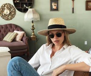 denim, glasses, and hat image