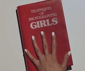 girl, red, and book image