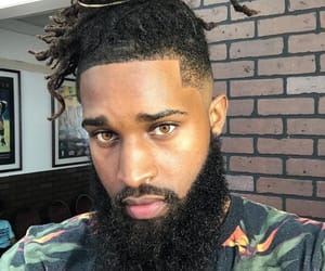 barber, beard, and dreads image